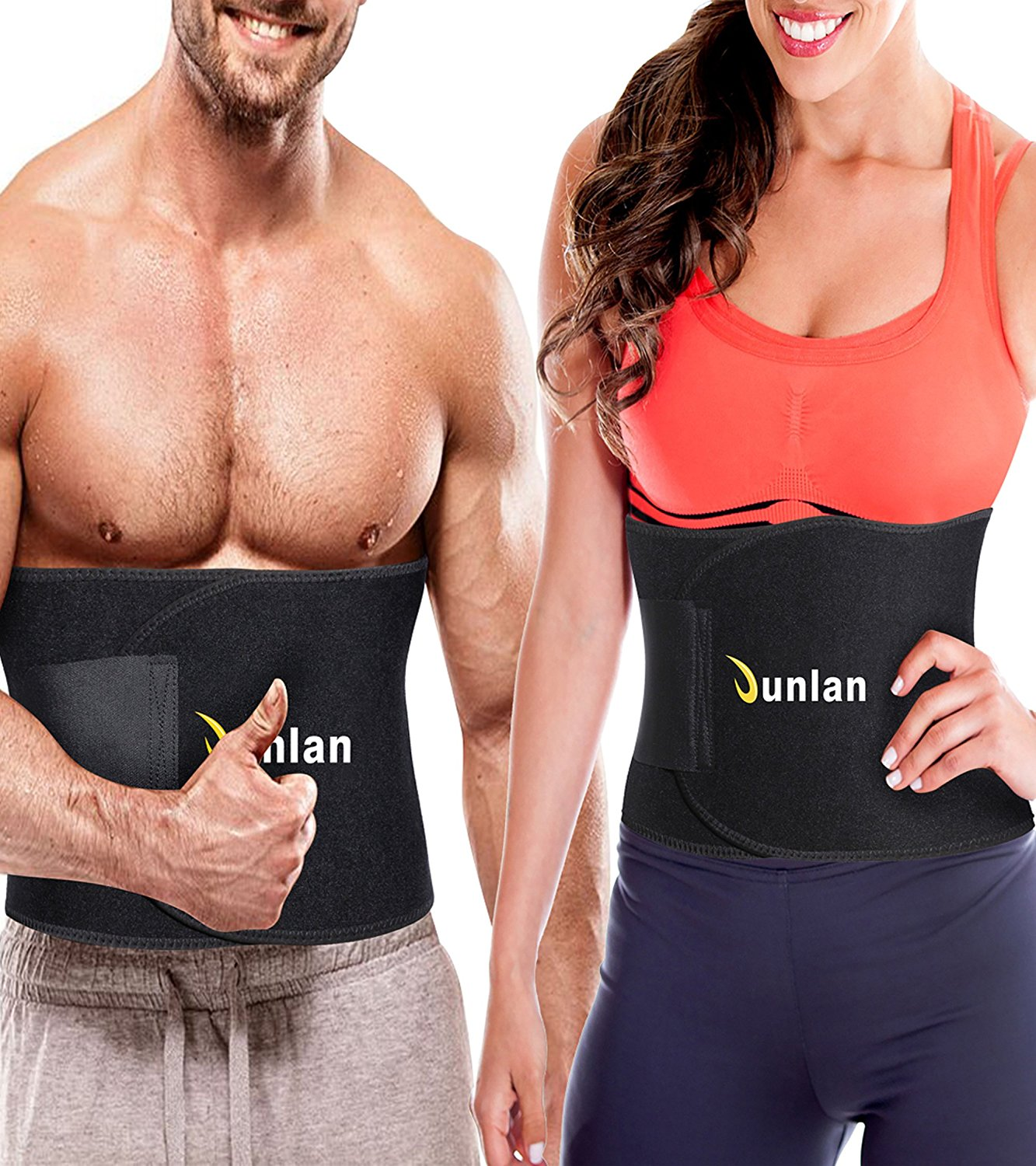 4d7f37334ef Get Quotations · Junlan Workout Waist Trainer Weight Loss Trimmer Belt  Corset Exercise Body Band Gym Sauna Sweat Wrap
