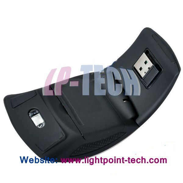 Elegant design Mini 2.4G 1000DPI optical arc folding wirelss mouse