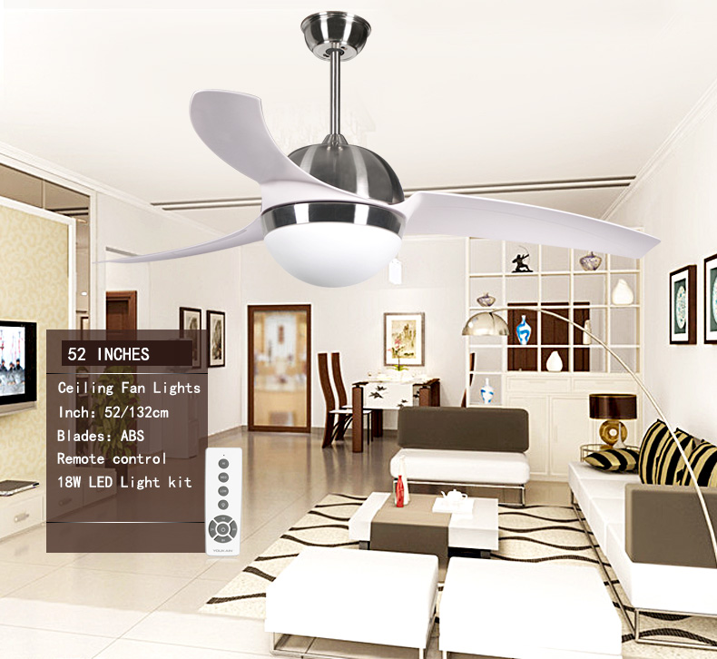living room modern 3 blade white 52 electric led ceiling fan saa with light