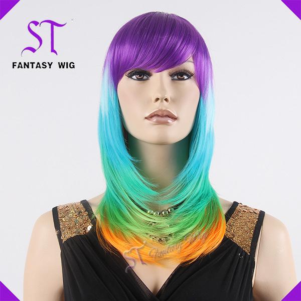 spcial et color faux cheveux perruque cosplay partie perruque pour les femmes - Perruque Colore