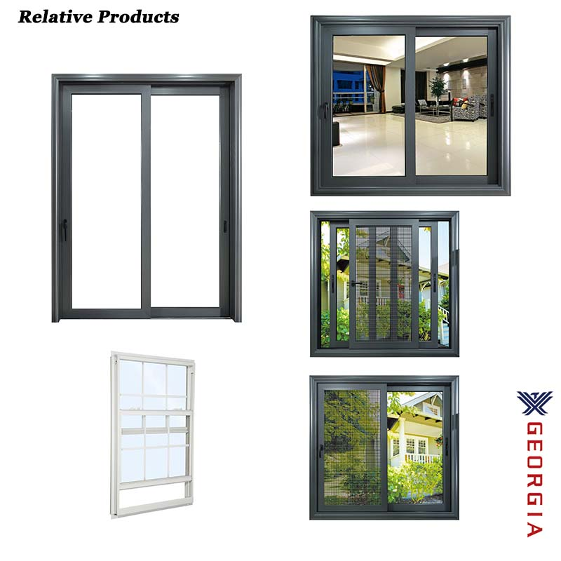 2019 modern style window sliding opening track system