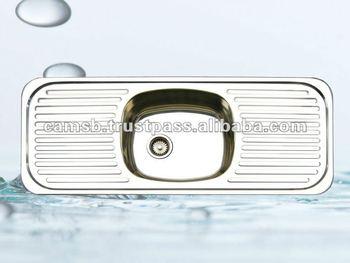 Single bowl double drainer kitchen sink ahi 1101bw buy double single bowl double drainer kitchen sink ahi 1101bw workwithnaturefo