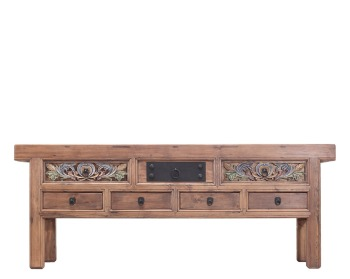 Chinese Vintage Furniture Handcarved Reclaimed Solid Wood Console