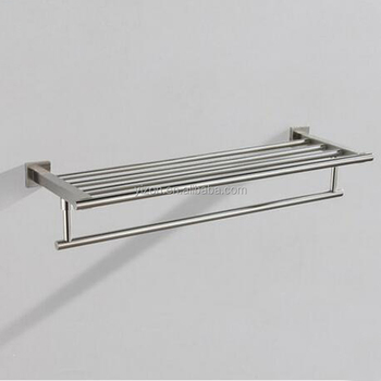 Wholesale And Retail Nickel Brushed Wall Mounted Towel Rack Storage