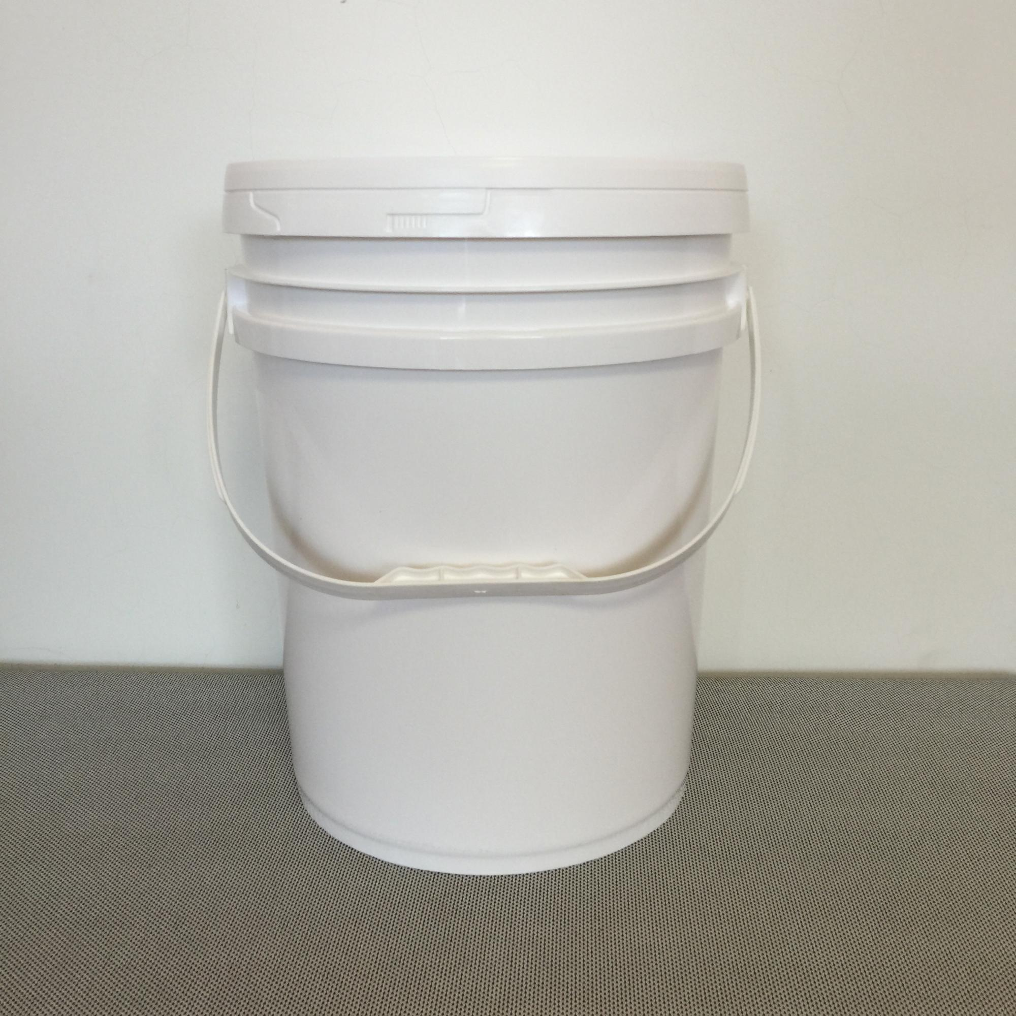 20L white PP plastic american style plastic bucket glue bucket coating bucket