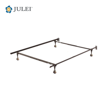 Usa Poplar T/f/q Adjustable Metal Bed Frame With Central Support And ...