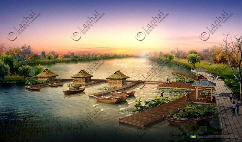 Resort District Plan Landscape Architecture Rendering