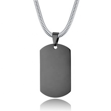 도매 Factory Price Army Necklace LOGO Customize 세련 & # Stainless Steel Men <span class=keywords><strong>목걸이</strong></span>