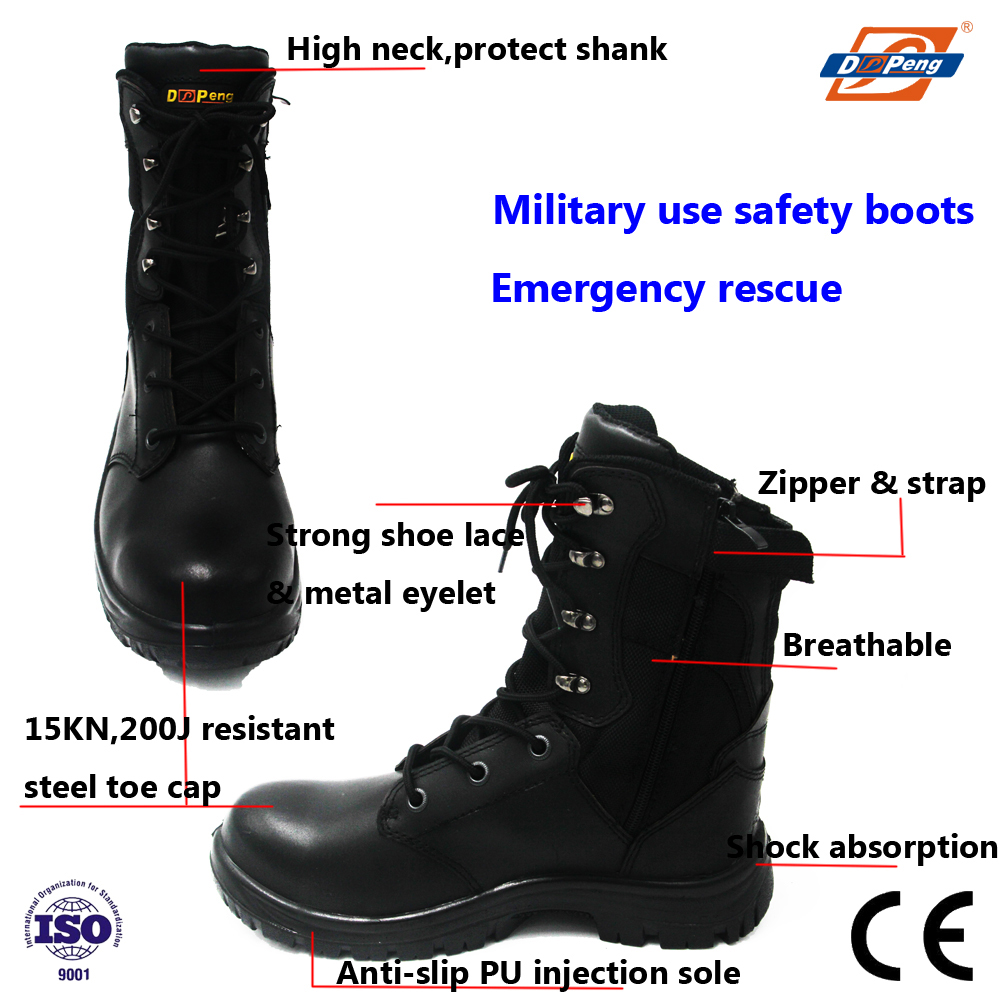 wholesale side zipper ourdoor hiking patrol army shoes
