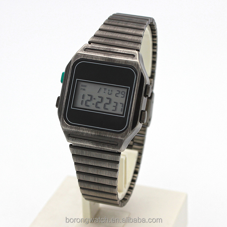 Electronic Day/Date display and Alarm feature custom digital watch