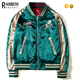 wholesale custom reversible satin embroidered souvenir men jacket