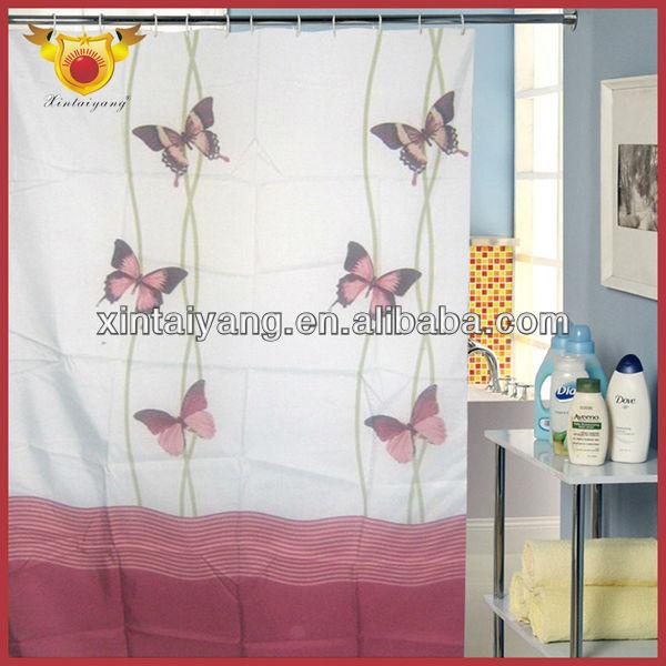 Papillon imprimé polyester ready made rideaux de douche salle de ...
