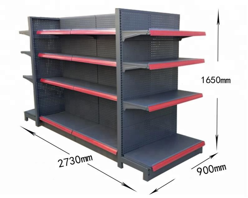 Wall Adjustable Shelving Hole back Plate  Gondola Super Market Shelves Supermarket Rack