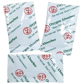 2 oxygen freshess absorbers packets need to use in a 5 gallon bucket for storing beens and rice and other such dry goods