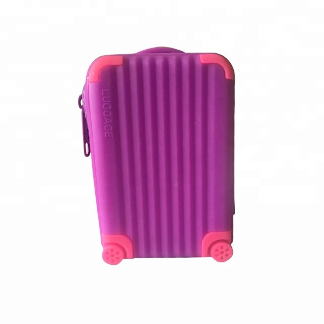 9ab068b595f0 Конфеты цвет милый чемодан сумка форма силиконовая резина желе монета мешок  изменить кошелек