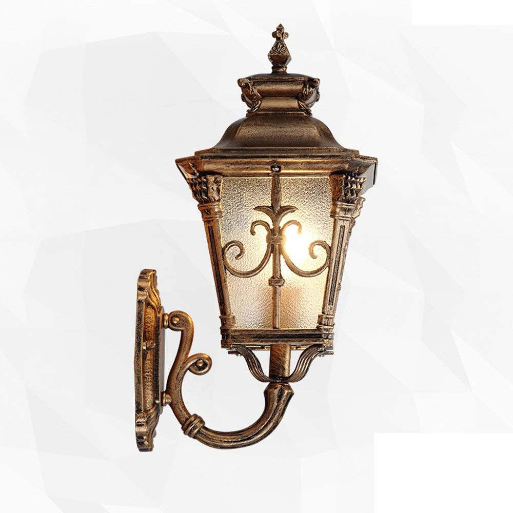 Get Quotations Modeen Antique Clic Victorian Outdoor Wall Light Lantern Black Br Metal Colour Frosted Clear Gl Waterproof