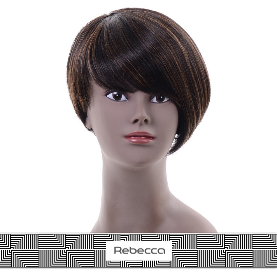 Henan Rebecca 2015 how shine brazilian short human hair short wigs