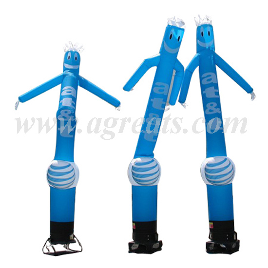 <strong>inflatable</strong> blue balloons air dancers, single tube <strong>inflatable</strong> sky air dancers dancing man with blower for sale S4035