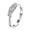 Women Luxurious 18K White Gold Plated Cubic Zirconia Infinity Love Solitaire Eternity Ring Engagement Wedding Ring