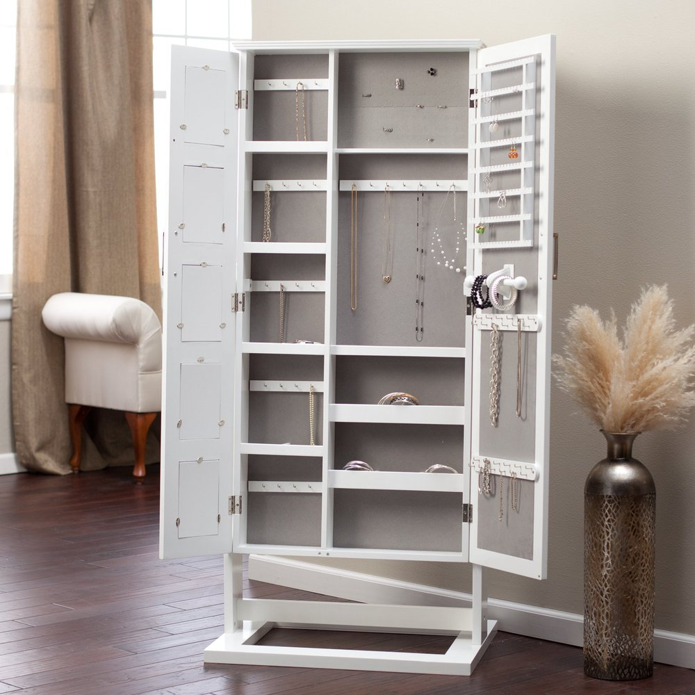 Floor Standing Cheval Mirror Jewelry Armoire Plans