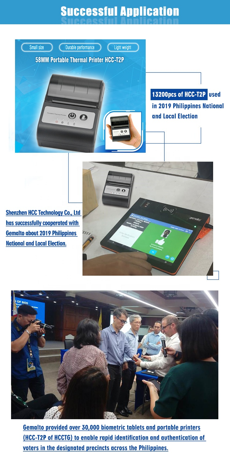 Small 2inch Bluetooth Portable Receipt Thermal Printer HCC-T2P