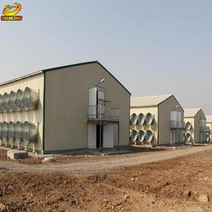 Alibaba trusted prefabricated automatic poultry farm chicken broiler house design