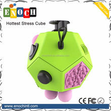 12 sided Relieves Stress And Anxiety fidget cube for Children and Adults Anxiety Attention Toy