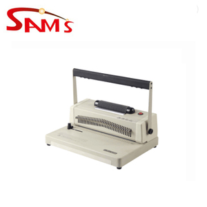 Newest commercial plastic coil a4 spiral binding machine