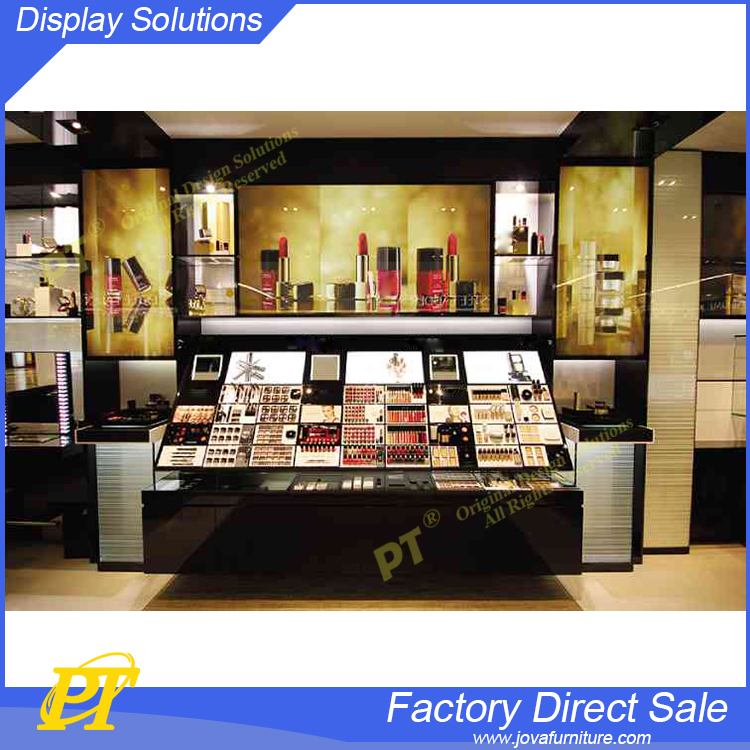 wholesale modern decorative cosmetics display design showcase