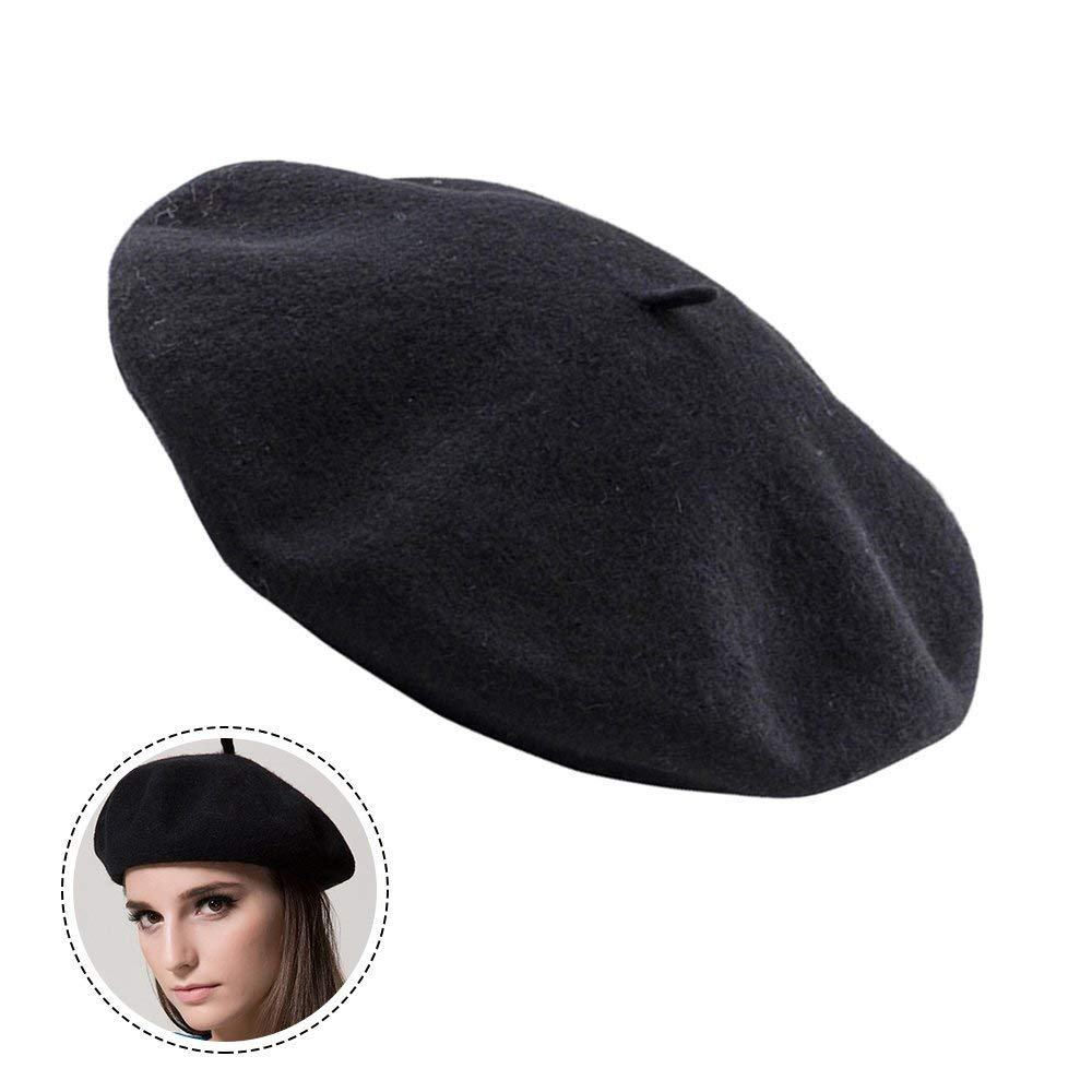 Get Quotations · NewSoul1us Wool Beret Hat For Women French Style Ladies  Winter Hats 7b9039f3e13c