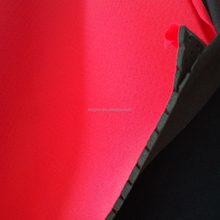 Red And Black Perforated SBR Neoprene Foam Laminated Soft Nylon Fabric