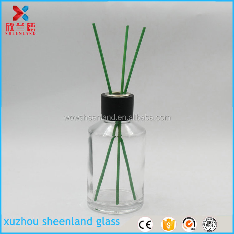 hot selling 2017 amazon 200ml air freshener dispenser glass bottle reed diffuser