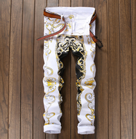 X84132A new model man casual denim Trousers fashion print Jeans New Style Jeans Pants