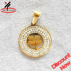 new arrival gold flower of life pendant necklace with rhinestones