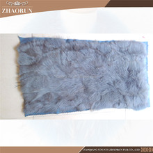 100% Real Fox Fur Plate / Dyed Color Fox Fur Skin Plate For Clothes & Garments