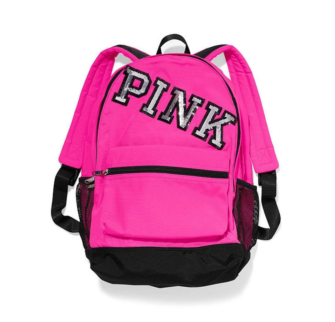 a1c2272497 Buy VICTORIAS SECRET PINK Campus Backpack - Neon Hot PINK W Bling in ...