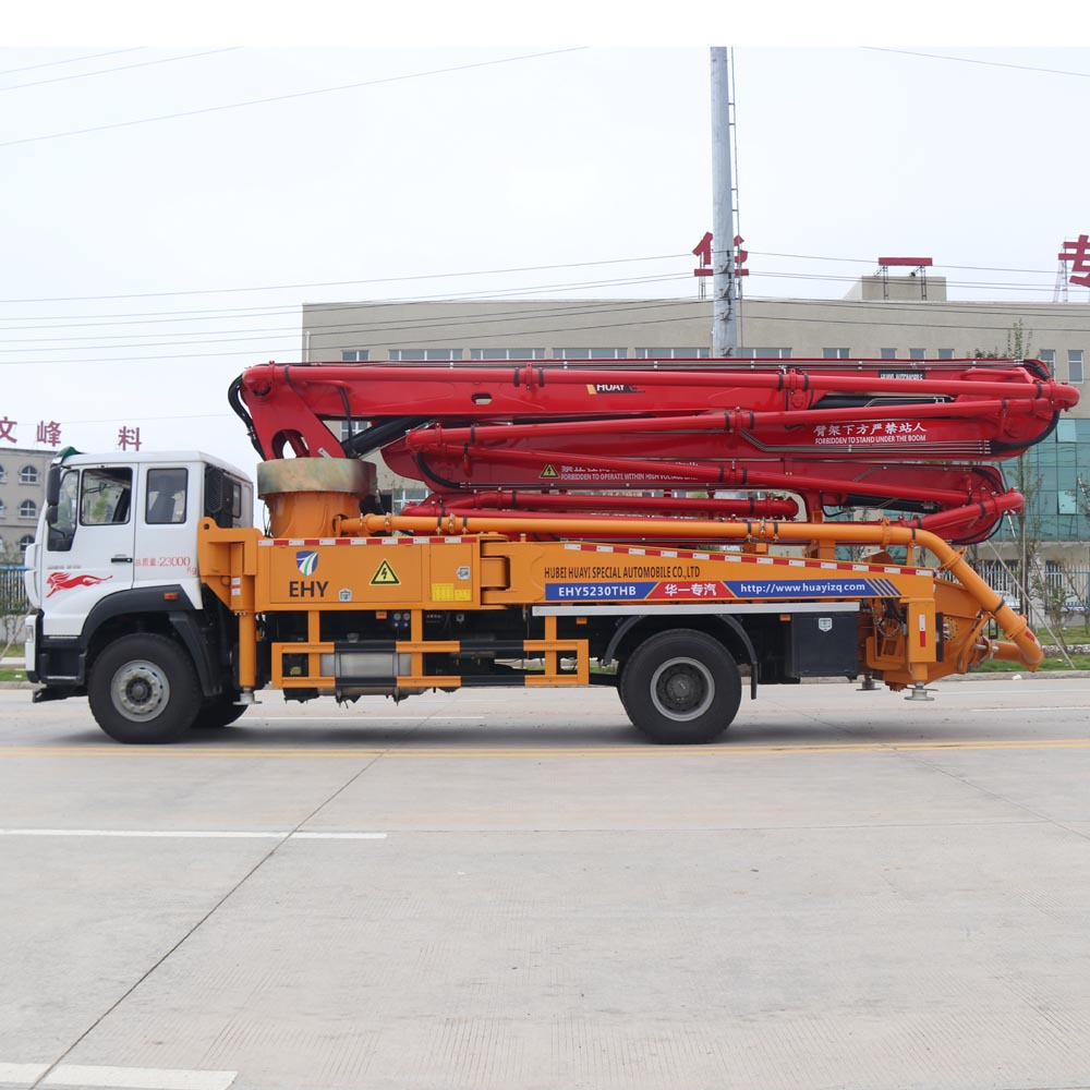 SINOTRUK STEYR 4X2 35M used concrete mixer truck with pump truck mounted concrete pump Euro 5