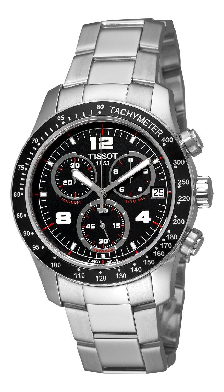 2737c1b3473 Get Quotations · Tissot Men s T0394171105700 Tissot V8 Black Chronograph  Dial Watch