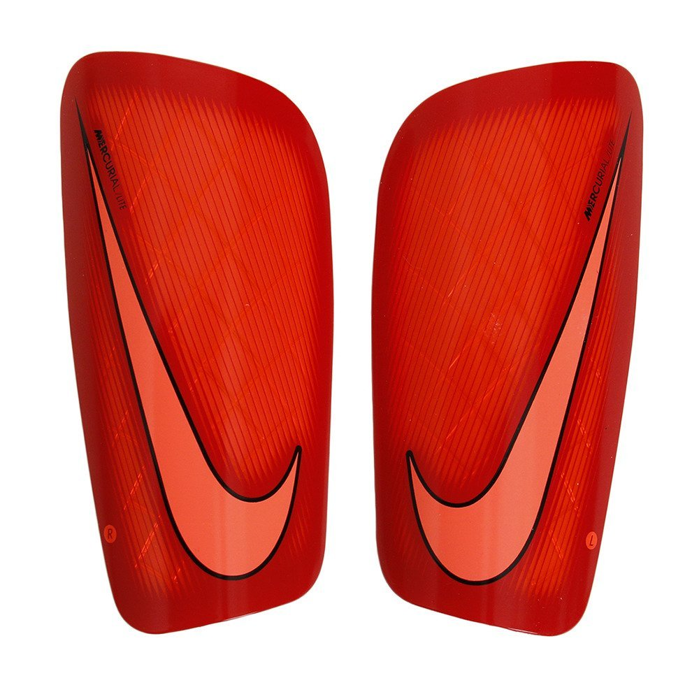 Men's Nike Mercurial Lite Shin Guards (Hyper Orange/University Red/Bright Mango) Small