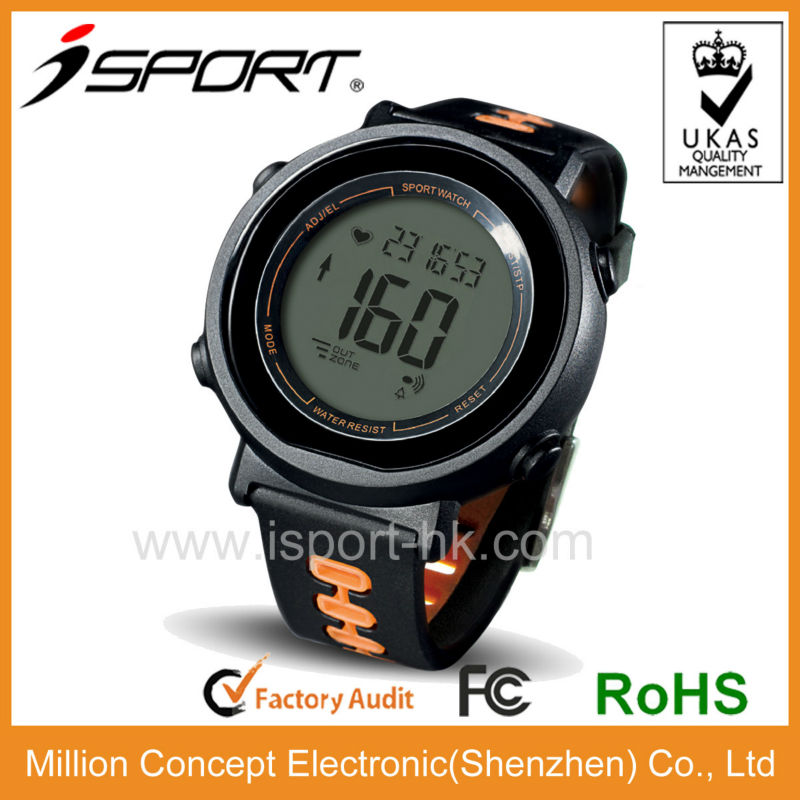 oem waterproof sports heart rate watch with pulse alarm clock