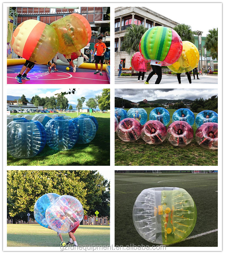 Commercial 0.6mm TPU 1.5m diameter transparent human size adult bumper ball inflatable body bubble soccer ball