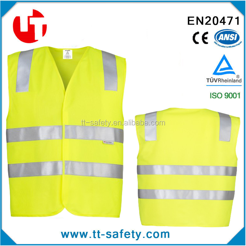 CE high visibility day night reflective safety vest reflective Clothing for outdoor activities, walking, training.