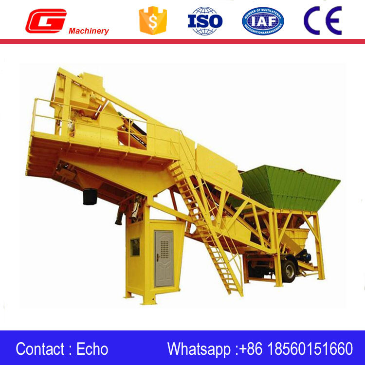Mobile Concrete Aggregate fertilizer Mixing Plant on sale