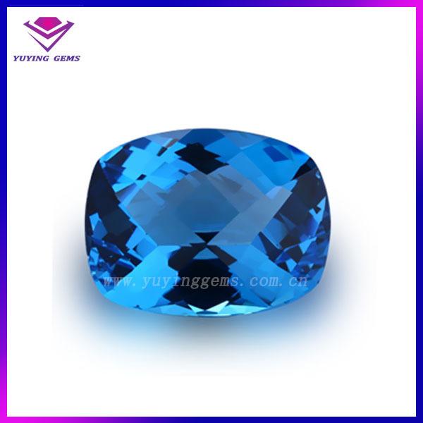 Super Cuscino Taglio Blu Topazio Pietra Preziosa,Blu Nomi Di Pietre  VU35