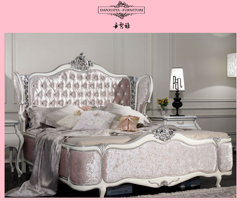 High Headboard With Pink Velvet Crystal Button King Size Queen