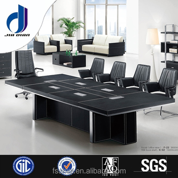 High Top Office Meeting Table Design, Modern 10 Person Wooden Conference  Table