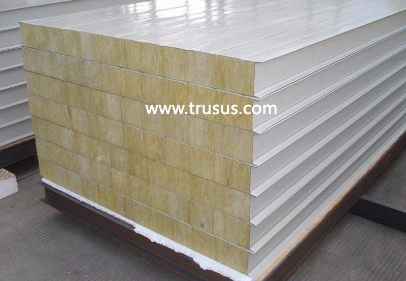 Light Steel Color Galvanized Steel Structural Insulated