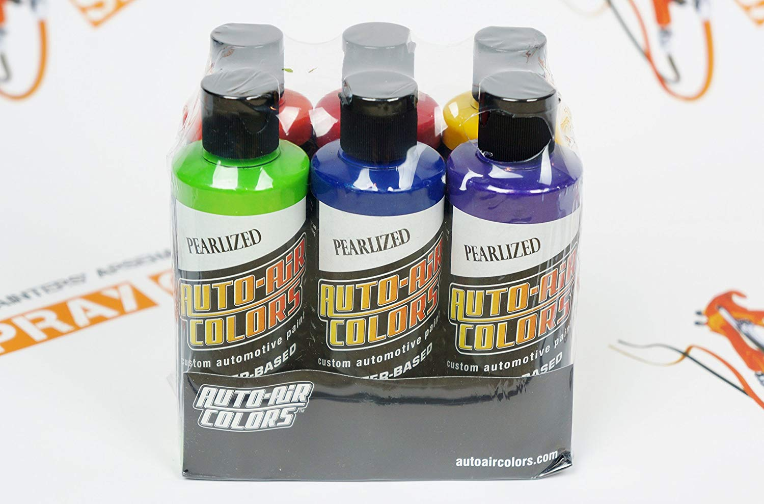 Createx Auto-Air Essential Pearlized Colors Set 4oz each. by SprayGunner