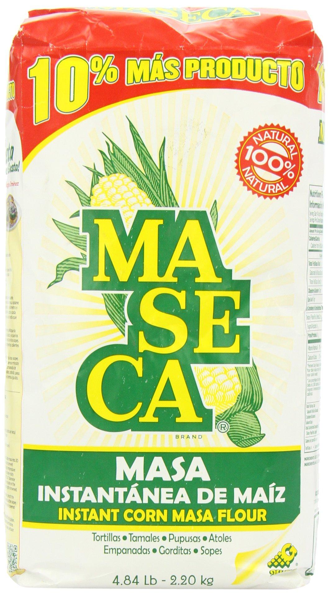 Maseca Instant Yellow Corn Masa Flour 4.84lb | Masa Instantanea de Maiz Amarillo 2.2kg