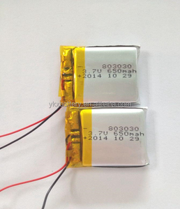 803030 3.7V 650mah lipo rechargeable Lithium Ion Polymer battery for MP3 player